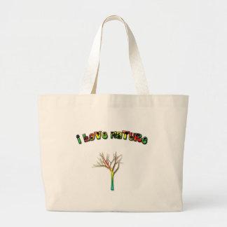 I Love Nature Tote Bags