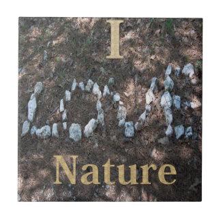 I Love Nature CeramicTile Small Square Tile
