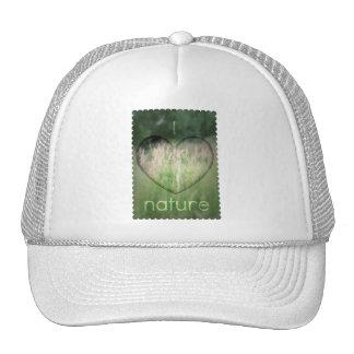 I Love Nature Grass Heart Trucker Hat