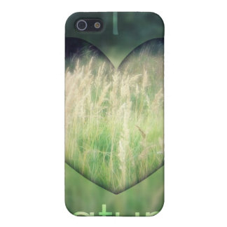 I Love Nature Green Grass Heart Case For iPhone SE/5/5s
