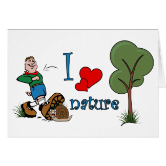 I love nature greeting card