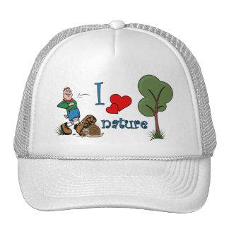 I love nature mesh hat