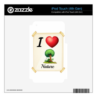 I love Nature iPod Touch 4G Decal