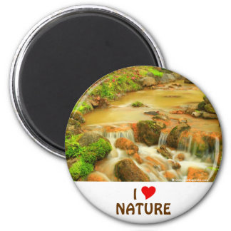 I Love Nature 2 Inch Round Magnet