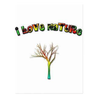 I Love Nature Postcard