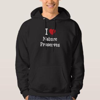 I love Nature Preserves heart custom personalized Hoodie
