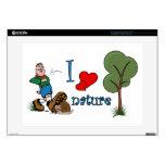 "I love nature skin for 15"" laptop"