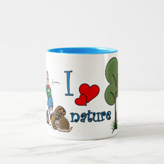 I love nature Two-Tone coffee mug