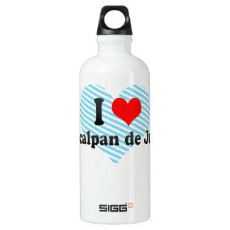 I Love Naucalpan de Juarez, Mexico Aluminum Water Bottle