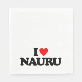 I LOVE NAURU NAPKIN