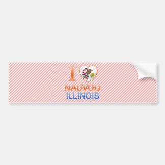 I Love Nauvoo, IL Car Bumper Sticker