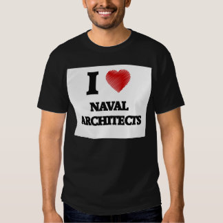 I love Naval Architects (Heart made from words) T Shirt