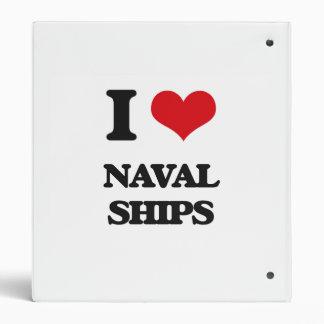 I Love Naval Ships Vinyl Binders