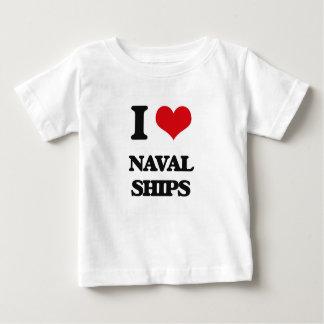 I Love Naval Ships Tee Shirt