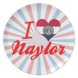 I Love Naylor, Missouri Party Plate