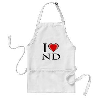 I Love ND - North Dakota Adult Apron