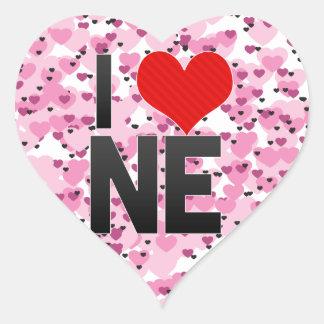 I Love NE Heart Sticker