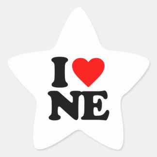I LOVE NE STAR STICKER