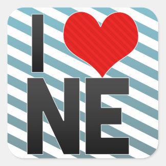 I Love NE Square Sticker
