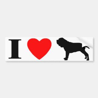 I Love Neapolitan Mastiffs Bumper Sticker Car Bumper Sticker