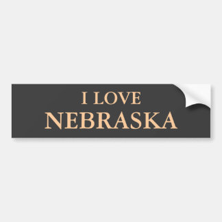 I LOVE NEBRASKA BUMPERSTICKER BUMPER STICKER