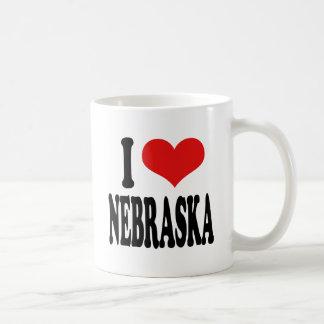 I Love Nebraska Classic White Coffee Mug