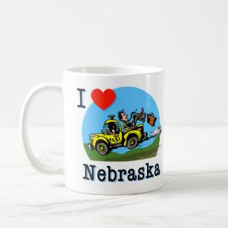 I Love Nebraska Country Taxi Coffee Mug