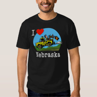 I Love Nebraska Country Taxi T-shirt