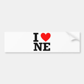 I Love Nebraska Design Bumper Sticker