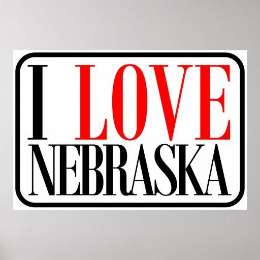 I Love Nebraska Design Poster