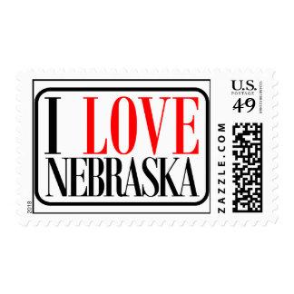 I Love Nebraska Design Stamp