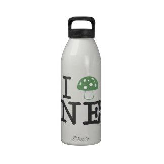 I LOVE Nebraska - Forest Green Magic Mushroom Drinking Bottles