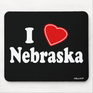 I Love Nebraska Mouse Pad