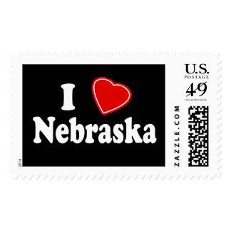 I Love Nebraska Postage Stamp