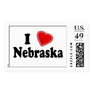 I Love Nebraska Stamps