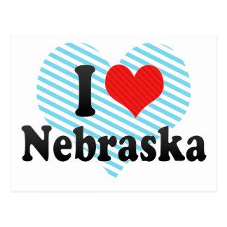 I Love  Nebraska Postcard