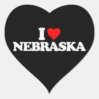 I LOVE NEBRASKA HEART STICKER