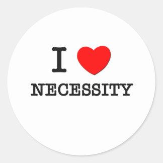 I Love Necessity Sticker