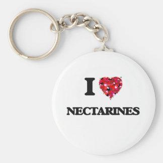 I Love Nectarines Basic Round Button Keychain