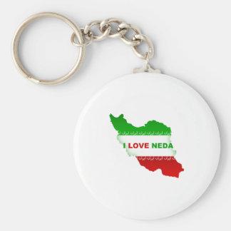 I Love Neda Keychain