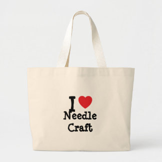 I love Needle Craft heart custom personalized Tote Bag