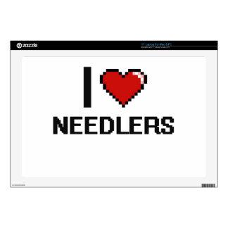 "I love Needlers 17"" Laptop Skins"