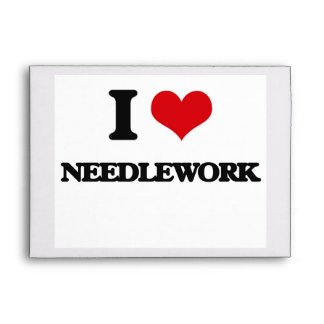 I Love Needlework Envelopes