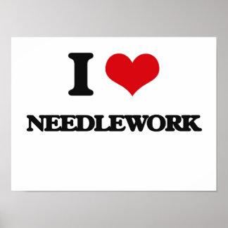 I Love Needlework Poster