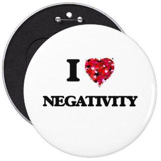 I Love Negativity 6 Inch Round Button