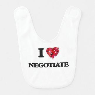 I Love Negotiate Bibs