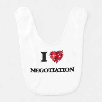 I Love Negotiation Baby Bibs