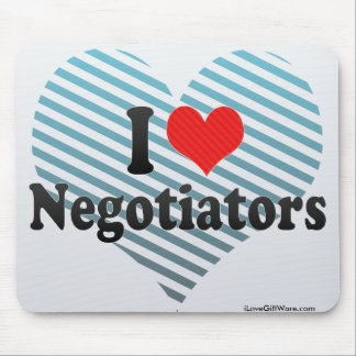 I Love Negotiators Mousepad