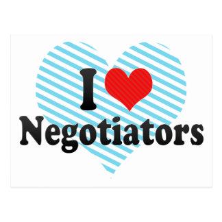 I Love Negotiators Postcard