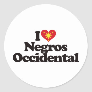I Love Negros Occidental Classic Round Sticker